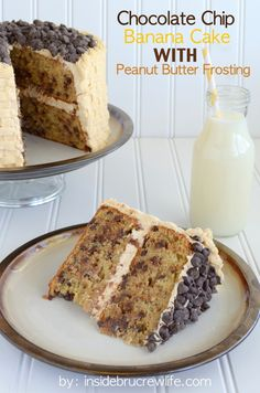 Chocolate Chip Banana Cake with Honey Peanut Butter Frosting @inside market market market BruCrew Life