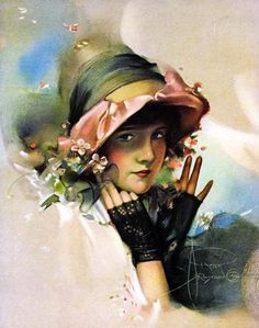 Rolf Armstrong - An Old Fashioned Girl