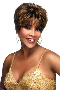 Vivica A. Human Hair wig made with Total Stretch Cap. 100 Human Hair Wigs, Remy Human Hair, Lace Front Wigs, Lace Wigs, Vivica Fox, Front Hair Styles, Wig Making, Natural Baby, Synthetic Wigs