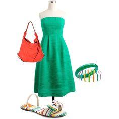 """Casual Beach Dress"" by mrsdheadley on Polyvore"