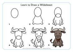 Learn to Draw a Wildebeest
