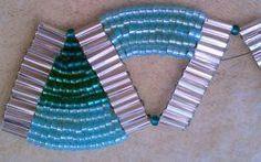 Free Ladder Stitch Bracelet Tutorial-Aquatic Waves |