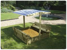 Sandpit with shade