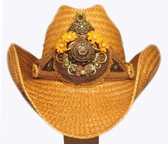 Cowboy Cowgirl Hat Embellished For A Very Lucky by GirlFridayHats, $125.00
