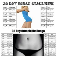 Squat and crunch Challenge