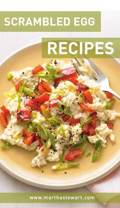 Scrambled Egg Recipes | Martha Stewart Living - The key to fluffy scrambled eggs is to beat the eggs briskly for at least 15 seconds before cooking, incorporating air to produce large, puffy curds. Try it with any of our seven recipes for scrambled eggs, including a dill-feta scramble, southwest scramble, and more.