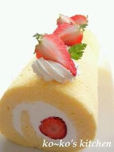Roll cake From Japanese website ~ www.cookpad.com (^~^)モグモグ