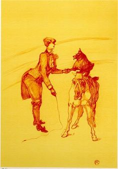 Artist: Henri Toulouse Lautrec Title: The Circus Portfolio Year: 1990 (After) Medium: Lithograph Edition: 350 Paper Size: 16-3/4 x 12-1/2 Price: $150