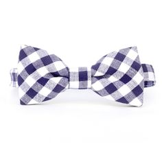 Urban Sunday navy gingham bow tie is amazing. Pair this with any colored shirt and your outfit goes from cute to amazing. Made with 100% cotton, these bow ties are machine washable. The adjustable neck strap attaches with Velcro making it easy to put on and take off. $24 via http://sophiblu.com