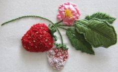 Strawberries - ornamental - Stumpwork kit