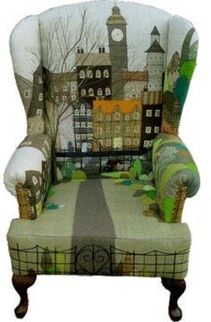Cool Furniture Inspiration – My Life Spot Painted Chairs, Hand Painted Furniture, Funky Furniture, Upholstered Furniture, Upcycled Furniture, Unique Furniture, Furniture Makeover, Furniture Design, Chair Design