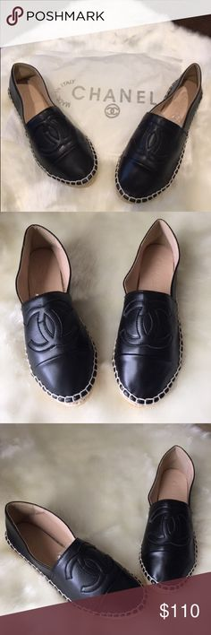 Black loafers New black loafers. They don't come with box. Please ask any question before buying. CHANEL Shoes Flats & Loafers