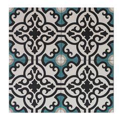 Marrakech Concrete Cement Amalfi 20x20. Marockanskt kakel/torrpressade cementplattor och hanmålat kakel från Marrakech Concrete, köp dem hos stonefactory.se