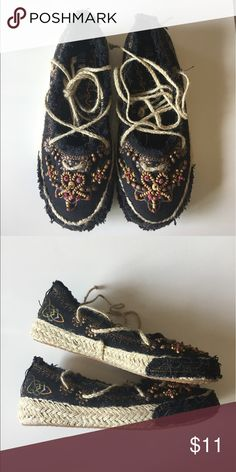 Rasolli women's canvas black shoe Never worn Rasolli Other