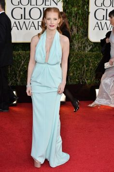 Snaps From The 2013 Golden Globe Awards - Jessica Chastain / Photo by George Pimentel