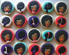 Afro girl Cookies - HayleyCakes And Cookies Royal Icing Cookies, Oreo Cookies, Sugar Cookies, African Cake, Cake Art, Dj Cake, Chocolate Covered Treats, Custom Cupcakes, Cupcake Heaven