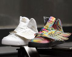 finest selection ef002 4b1eb Jeremy Scott x adidas Originals JS Wings - White - Gold + Rainbow -  Available - SneakerNews.com
