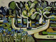 Scharl, Ludwig geb. 1929 München Parklandschaft Gouache 30 x 39 cm R. u. signiert. Rahm — Grafik