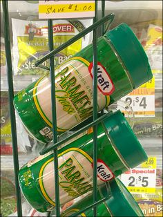 """Here Kraft® reminds you that a aprinkle of aged Parmesan Cheese goes well on frozen vegetables and more, in addition to that spaghetti main dish. """"Italian Delicious"""" the tagline brags. This breaka..."""
