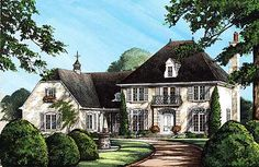 Plan W32578WP: European, French Country, Premium Collection, Corner Lot, Photo Gallery House Plans & Home Designs