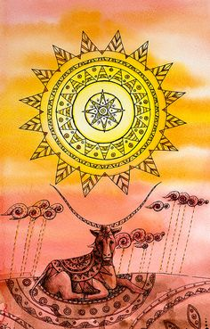Пятничная Мандала № 10. Солнце - harmonisarium