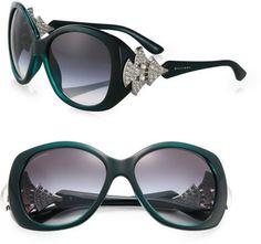 Bvlgari ~ Oversized Square Embellished Sunglasses