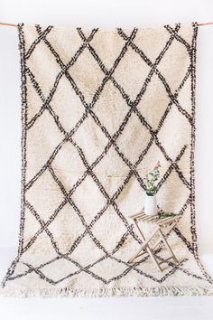 VINTAGE BENI OURAIN RUG // THE HUDSON  handwoven by the women of the beni ourain, seventeen tribes in the high atlas mountains of morocco, beni