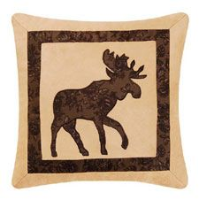 Cabin Nights Moose Throw Pillow