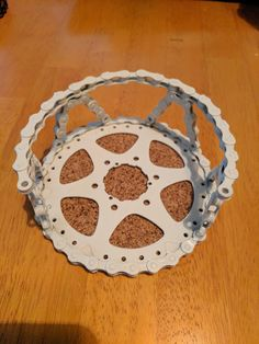 Coaster holder Designed to hold up to 6 Bicycle Part Art Resin  or Powder coated coasters by Bicyclepartart on Etsy