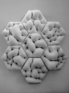 """The Soft Hard by MATSYS. Using a flexible fabric as a mold, this """"soft"""" form was cast from plaster."""