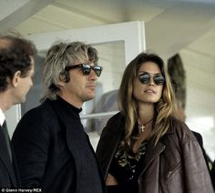 Richard Gere and then-wife Cindy Crawford look every inch the glamorous celebrities as they watch polo Beautiful Gorgeous, Beautiful Couple, Richard Gere, Kaia Gerber, Iconic Photos, Medium Hair Cuts, Cindy Crawford, Celebrity Couples, American Girl