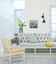 white and bright, love the color combo
