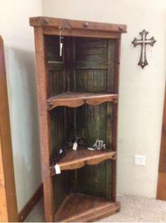 old door corner cabinet