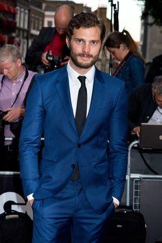We love a man in a suit, Jamie Dornan.