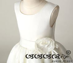 white Flower girl dress  flower girl dress junior by ayayadress