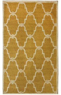 Santa Ana Trellis Gold Rug | Contemporary Rugs