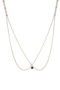 up-boutique:    CRISTINA ZAZO  Edwarian necklace  18K 1 micron gold-plated brass and onix.  125,00 €  tax incl.