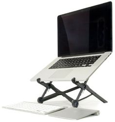 Roost Laptop Stand - Portable & Adjustable (For Apple MacBook and PC) Eye-Level Ergonomic for Productivity, Lightweight folding for travel, Universal Fit, Compact & Strong
