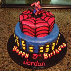 This Spider-Man cake is picture perfect! Source: Instagram user bomb_dizzle