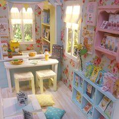 love this little library My New Room, My Room, Playhouse Interior, Pastel Room, Theme Background, Kawaii Room, Otaku Room, Aesthetic Room Decor, Room Ideas Bedroom