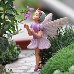 Amazon.com: Miniature Fairy Garden Lilac Fairy: Patio, Lawn & Garden