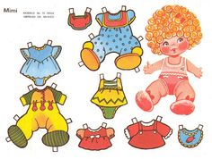 Mimi Two things Dossie Bubble loves, dolls and cut-out paper dolls.