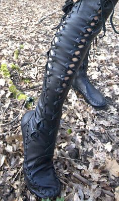 Black Over The Knee High Leather Boots these are the boots I won frome Gipsy Dharma this is soooooo awesome