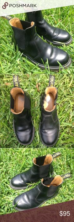 Dr. Marten Chelsea Boots authentic Got these from posh, excellent condition, just too big. Black chelsea boots! Dr. Martens Shoes Ankle Boots & Booties