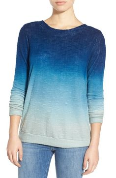 Young, Fabulous & Broke 'Robin' Ombré V-Back Sweater available at #Nordstrom