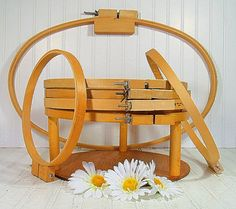 Wooden Quilting Hoops Set of 7  Vintage Sewing by DivineOrders, $55.00