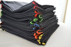 How to:: Quick and easy chair pockets (IKEA fabric)