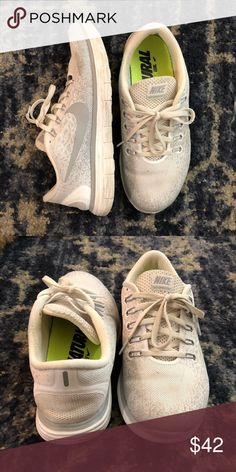 Nike free run distance size 8 Used but still in great condition. White with gray. Super comfortable. Great for running, hiking, or even just casual. High quality shoe. Nike Shoes Athletic Shoes