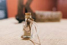 Beach wedding favor; sand in a bottle from beach the ceremony was held on #keywedding
