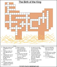 Printable Crossword Puzzle For Christmas